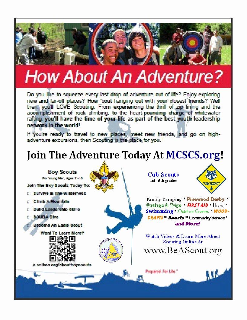 Cub Scout Flyer Template Luxury Cub Scout & Boy Scout Parent orienation Thursday Sept