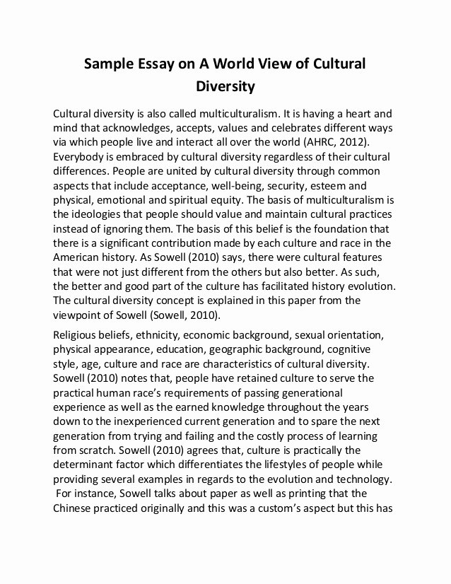Cultural Autobiography Essay Example Best Of Sample Essay On A World View Of Cultural Diversity