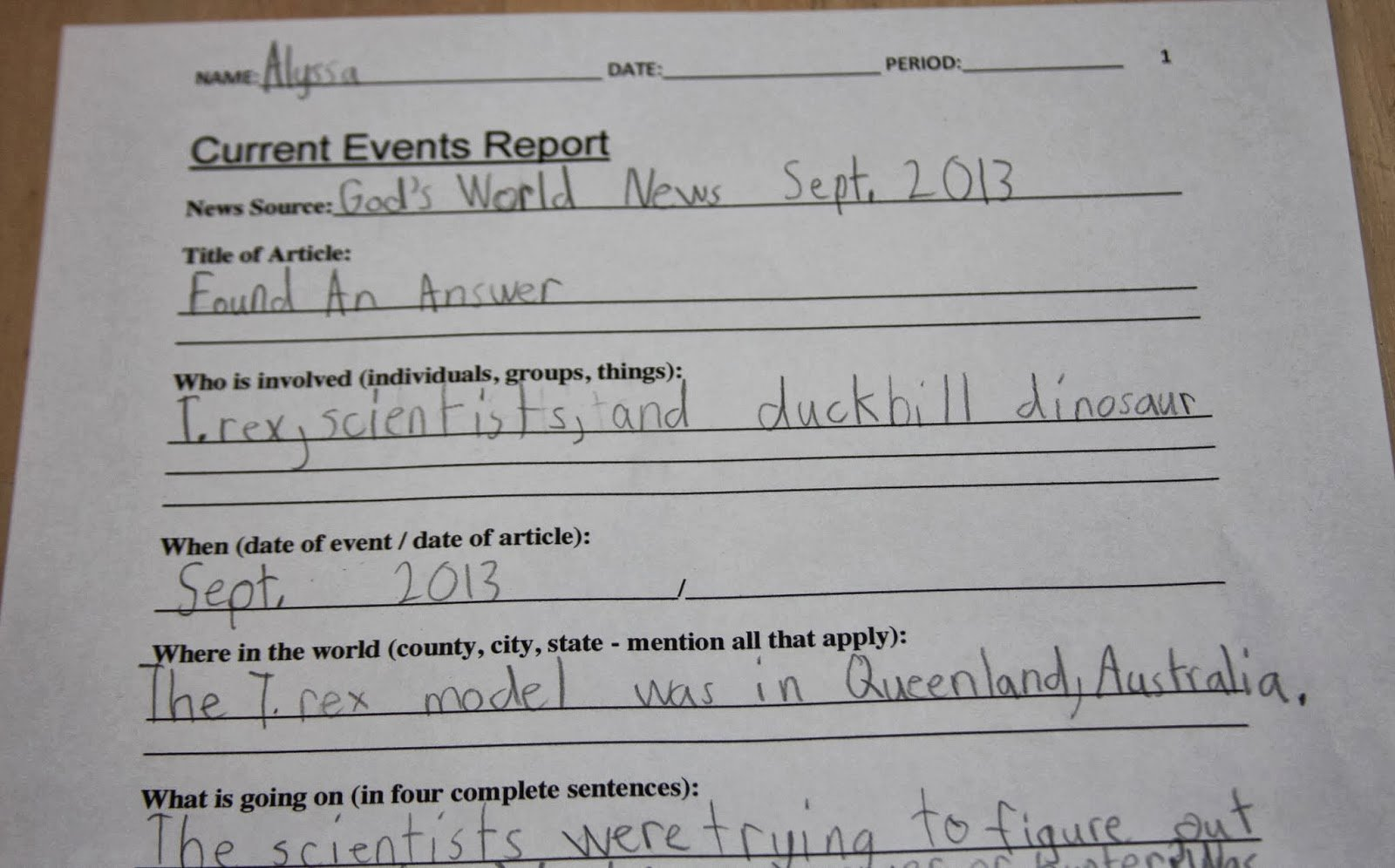 Current event Paper format Elegant A Learning Journey Schoolhouse Review God S World News