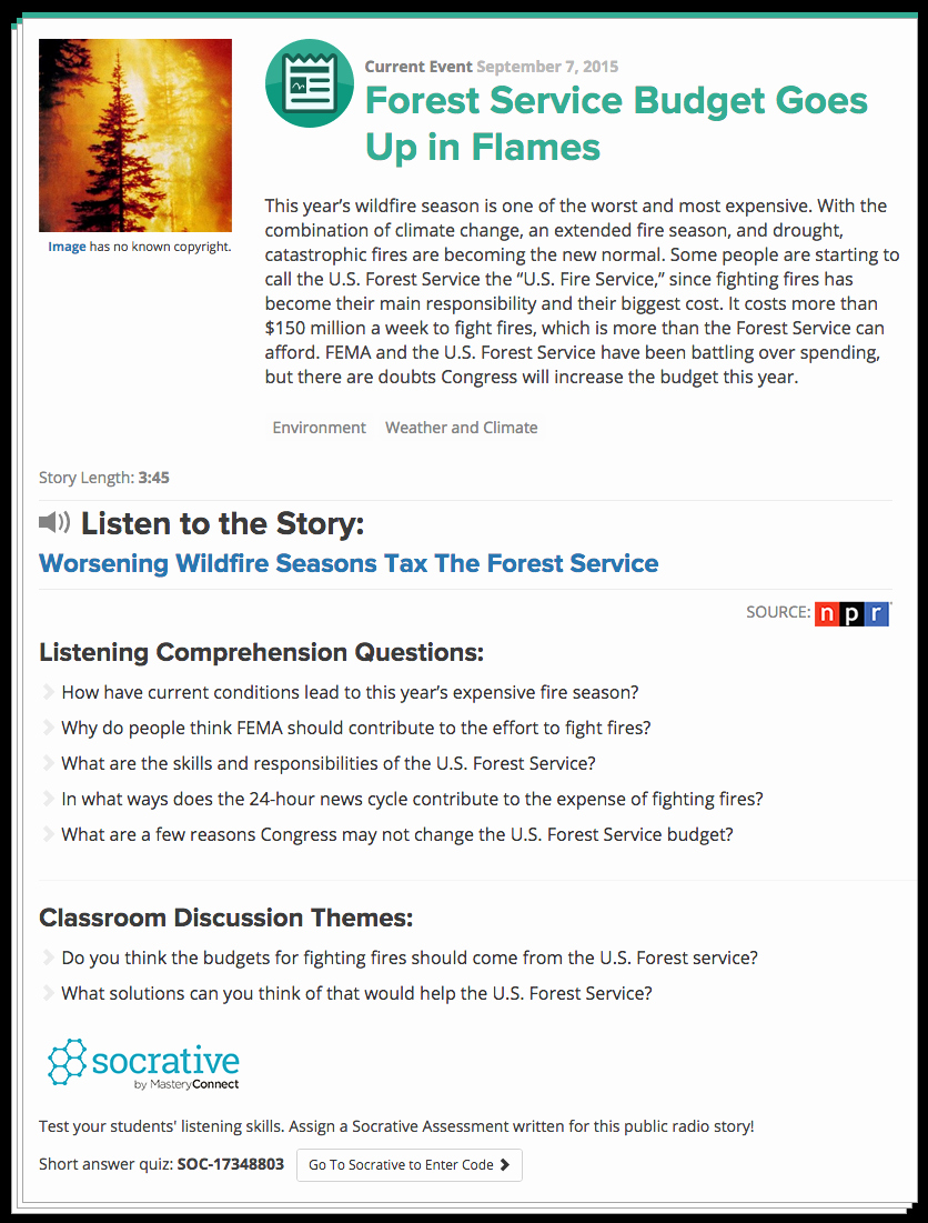 Current event Paper Sample Elegant Listen Current Teach Your Students to Listen with the