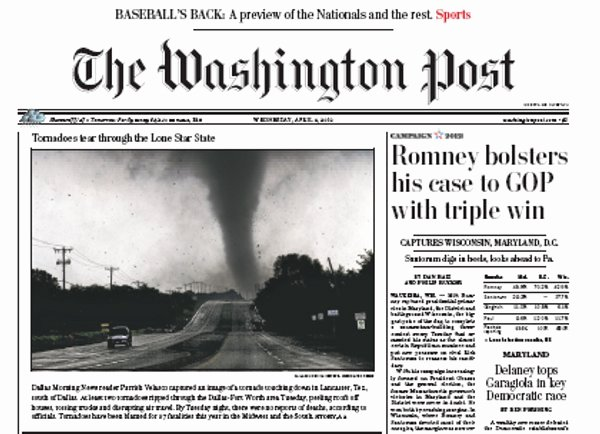 Current event Paper Sample Inspirational Main News Section