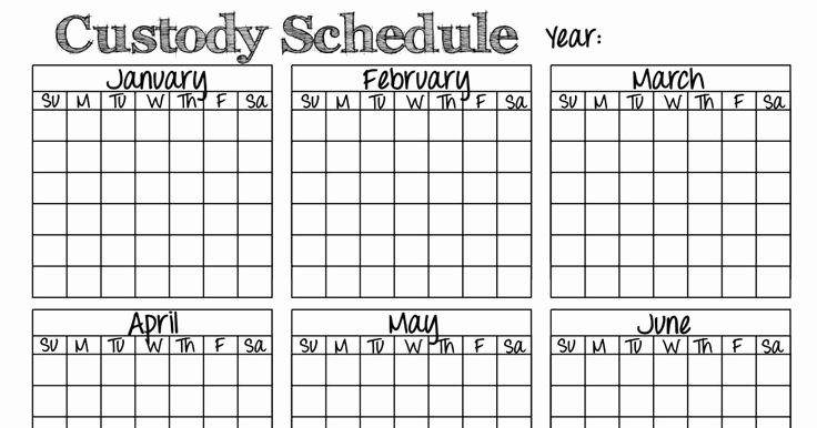 Custody Calendar Template New 8 Best Divorce Images On Pinterest