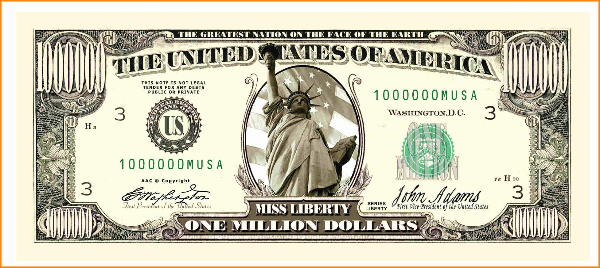 Custom Dollar Bill Template Best Of 4 Custom Dollar Bill Template