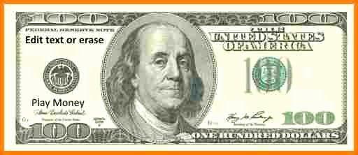 Custom Dollar Bill Template Fresh 7 Customizable Fake Money Template