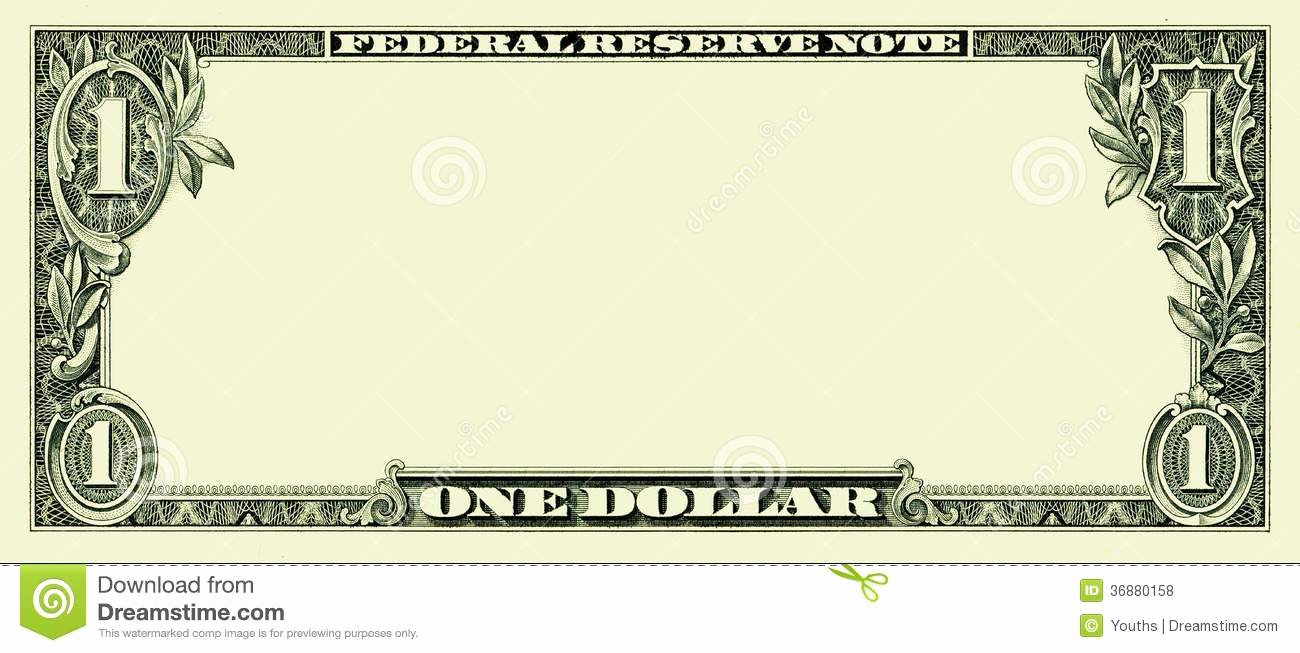 Custom Dollar Bill Template Fresh Bank Note Clipart Clipground