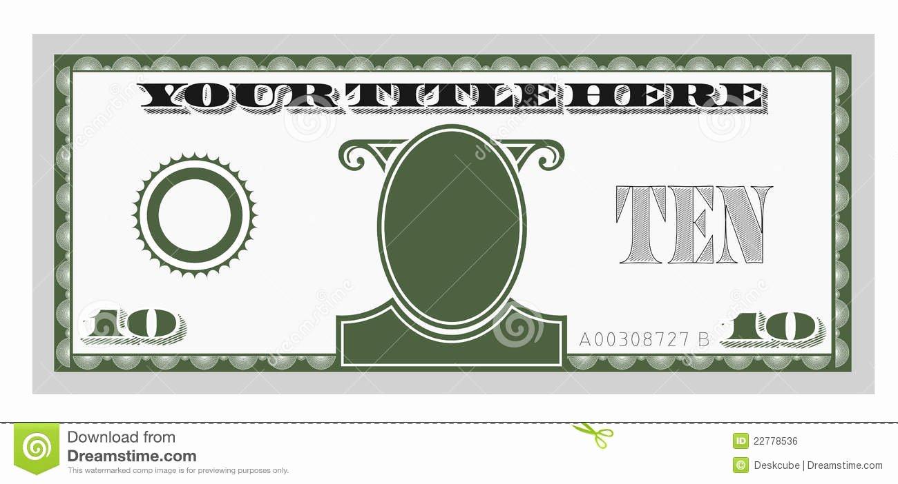 Custom Dollar Bill Template Fresh Clipart Fake Money Clipground