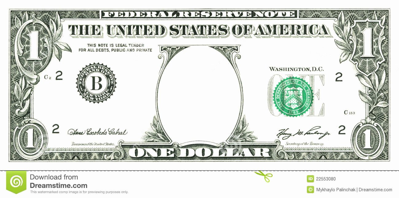 Custom Dollar Bill Template Lovely Five Dollar Bill Coloring Page thekindproject