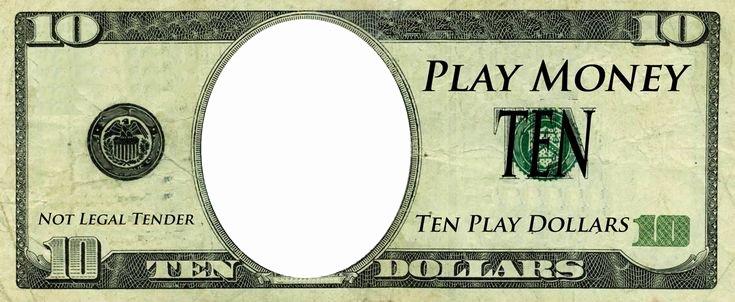 Custom Dollar Bill Template Luxury Play Money Template Play Money Templates