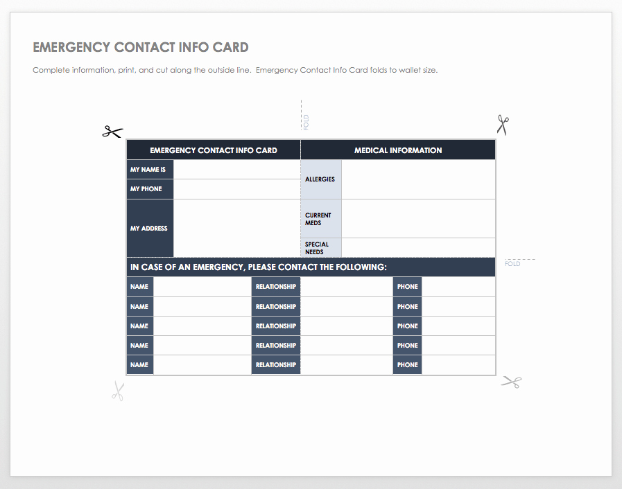 Customer Information Card Template Lovely Free Contact List Templates