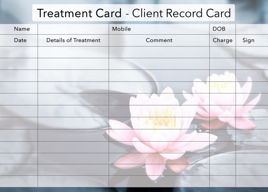 Customer Information Card Template Luxury Beauty Client Card Treatment Consultation Card – Beauty