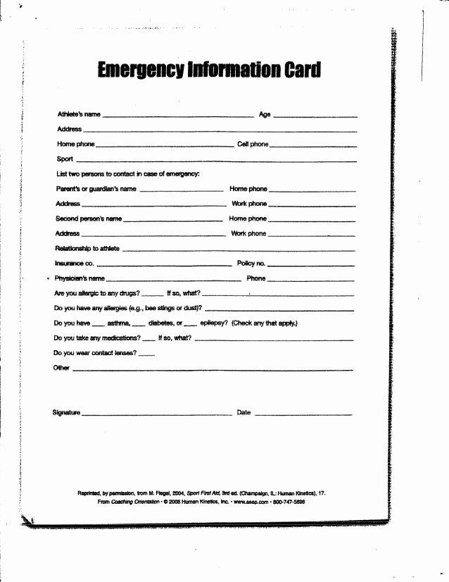 Customer Information Card Template New Pictfc Registration Health Information Card
