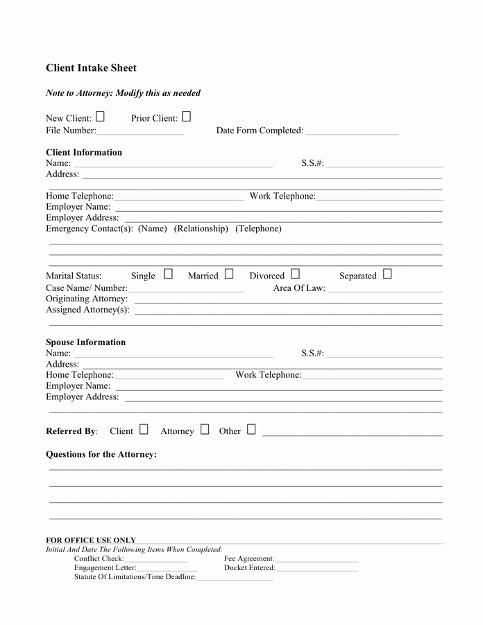 Customer Profile form Unique Client Profile Sample Free Documents for Pdf