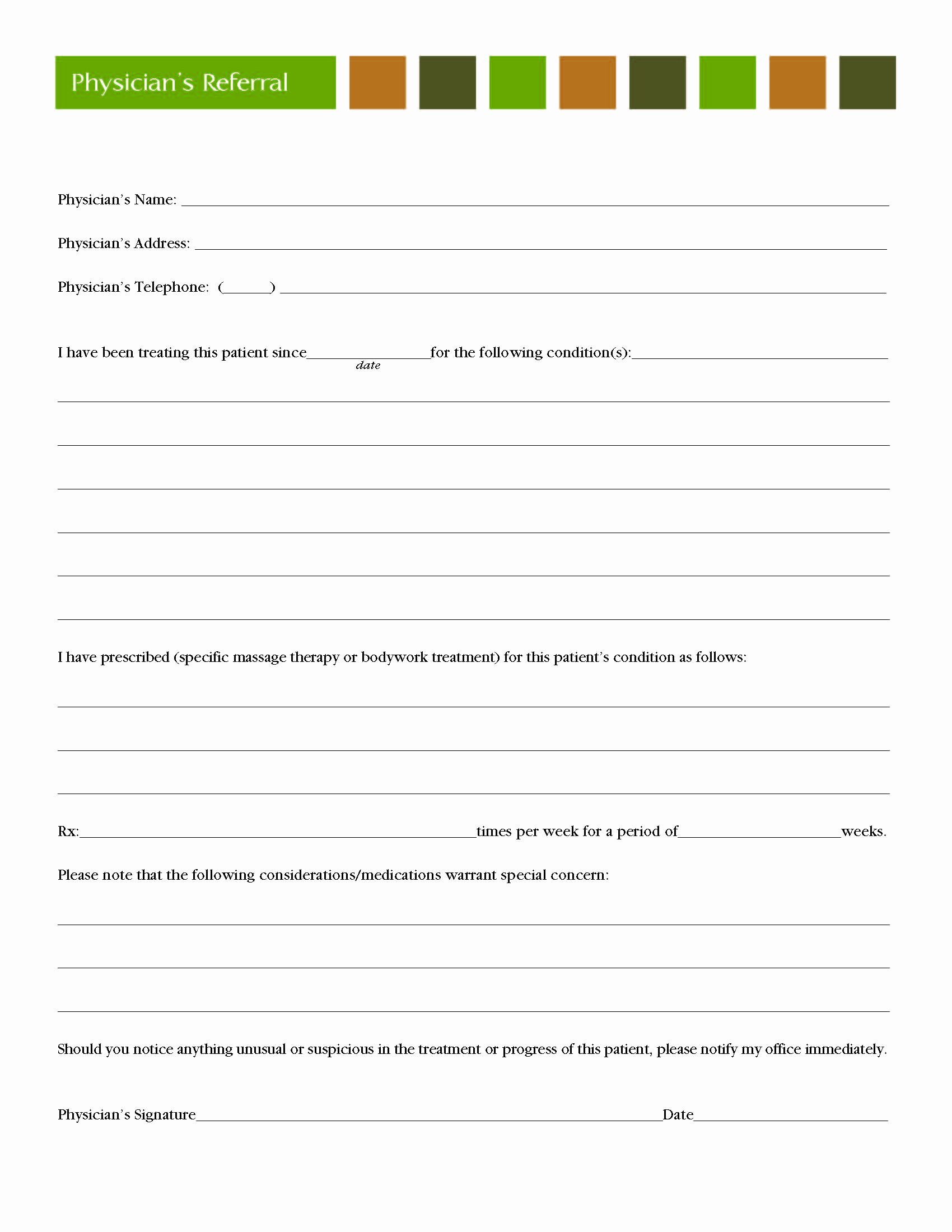 Customer Referral form Beautiful Client forms Ridgefield Chiropractic and Massage