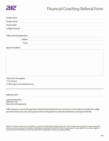 Customer Referral form Fresh Referral form Trellis Pany
