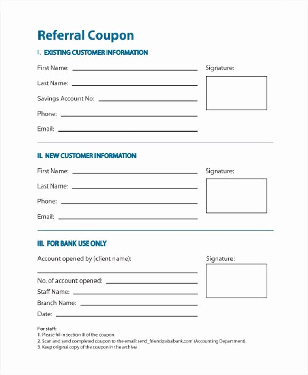 Customer Referral form Inspirational 11 Referral Coupon Templates