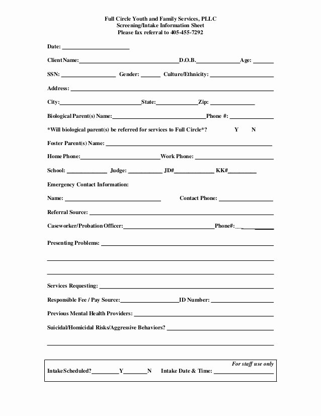 Customer Referral form New Fcyfs Referral form