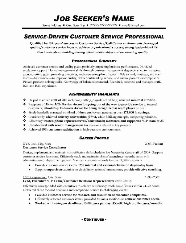 Customer Service Action Plan Examples Awesome Customer Service Resume Sample 328 topresume