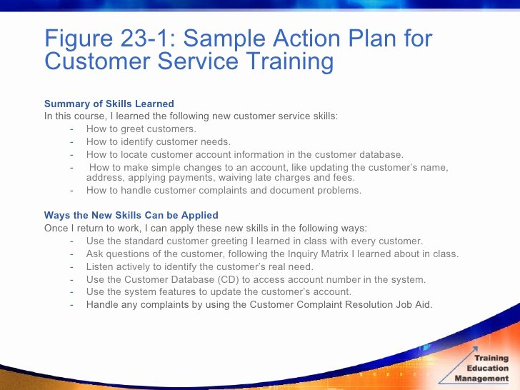 Customer Service Action Plan Examples Elegant Bottom Line Evaluation Measuring Results From