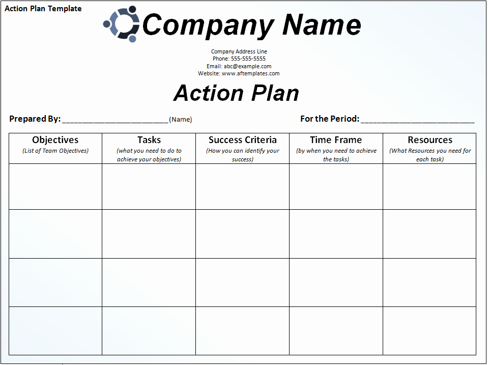 Customer Service Action Plan Examples Fresh Business Action Plan Template