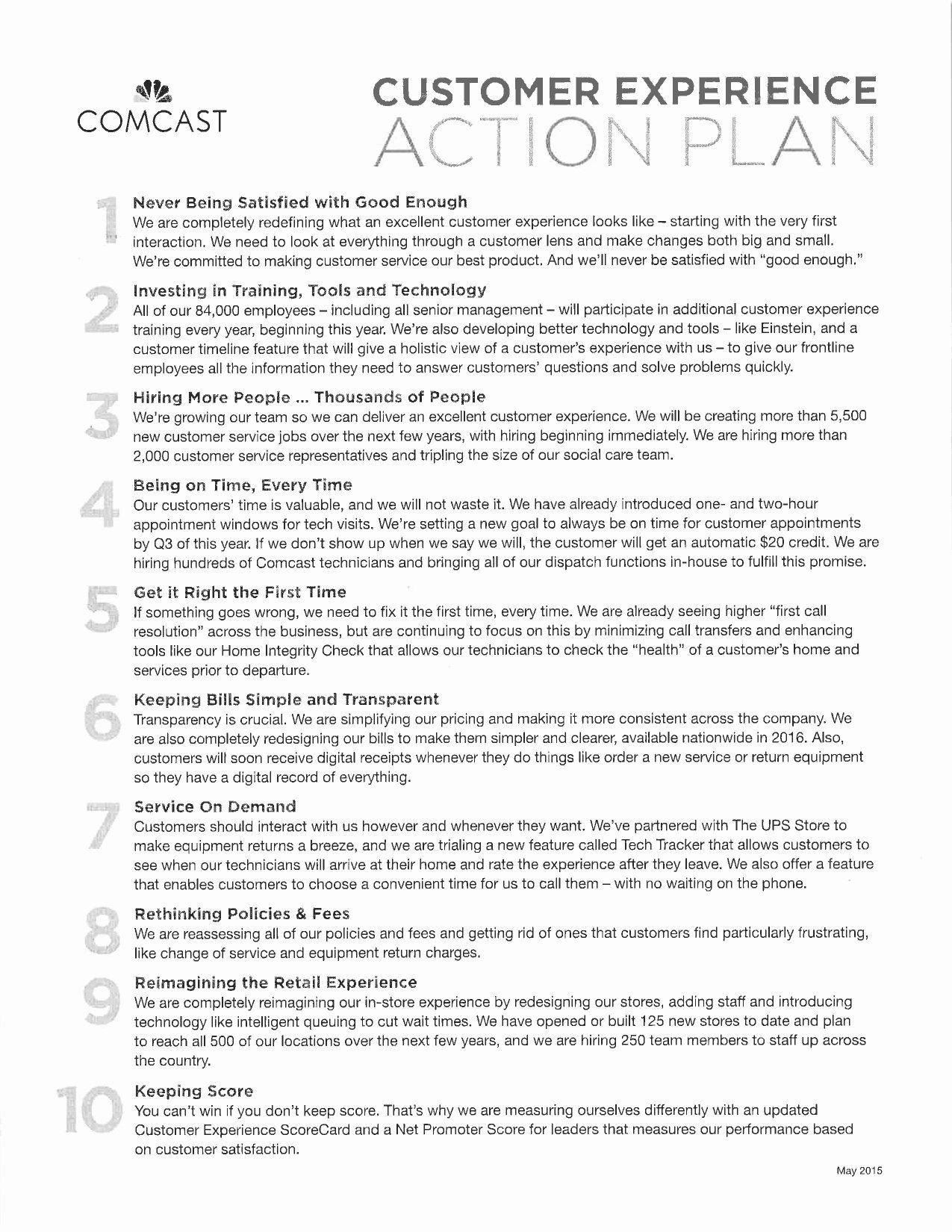 Customer Service Action Plan Examples Inspirational Retail Customer Service Action Plan Examples
