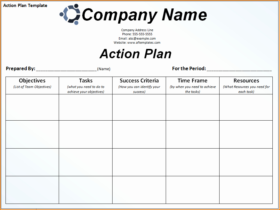 Customer Service Action Plan Examples Lovely 6 Sample Action Plan Template