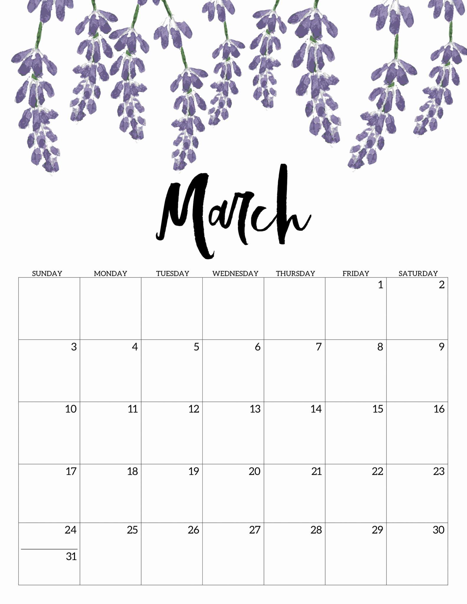 Cute Calendar Template 2019 Best Of Blank March 2019 Calendar Printable Template Pdf Word