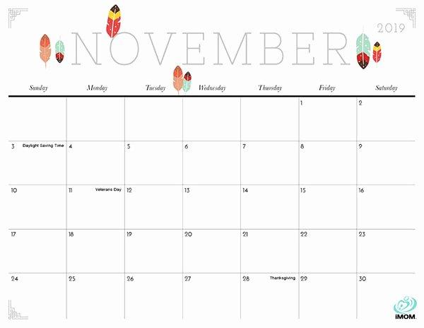Cute Calendar Template 2019 Elegant Cute and Crafty 2019 Calendar Imom