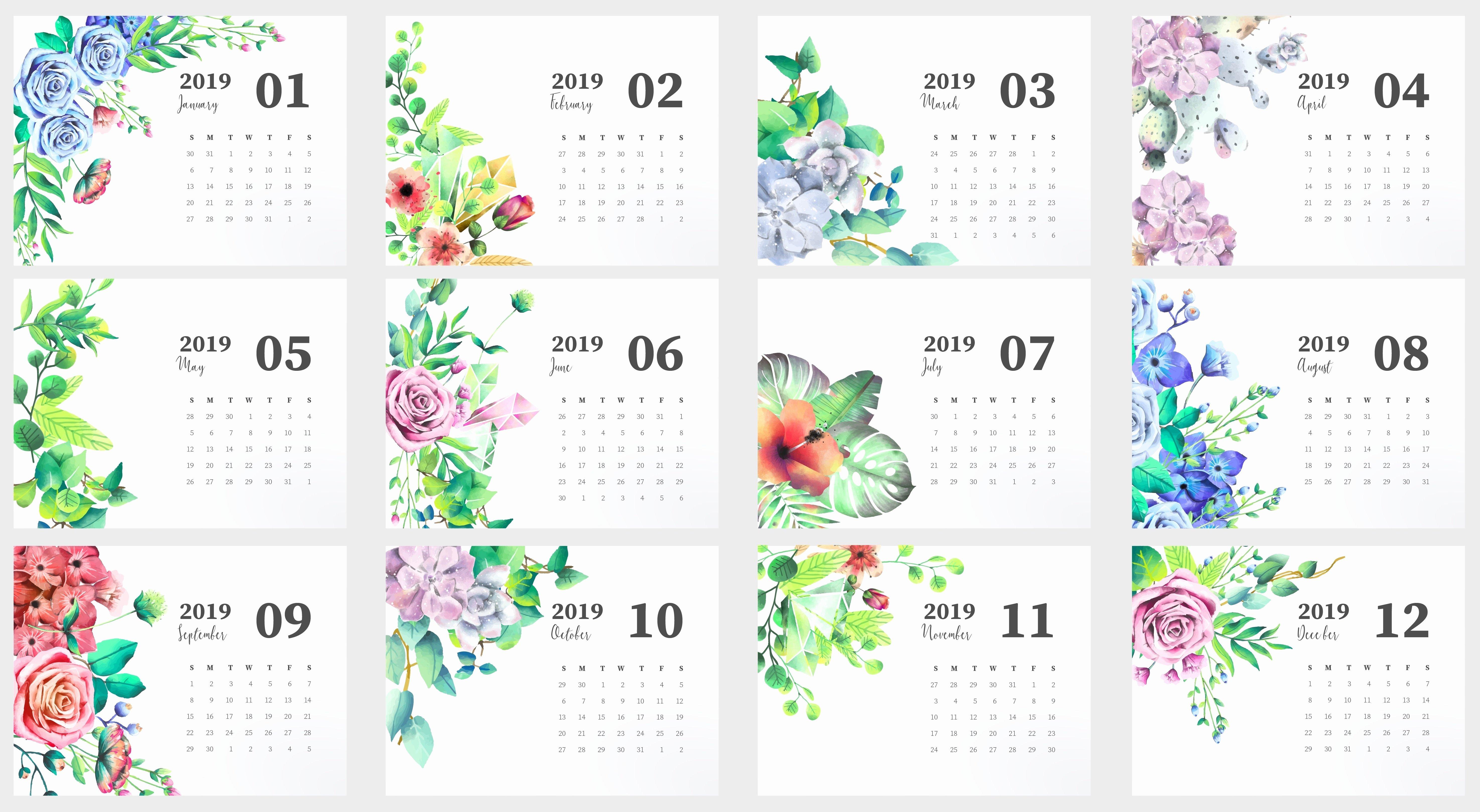 Cute Calendar Template 2019 Inspirational Cute 2019 Monthly Calendar
