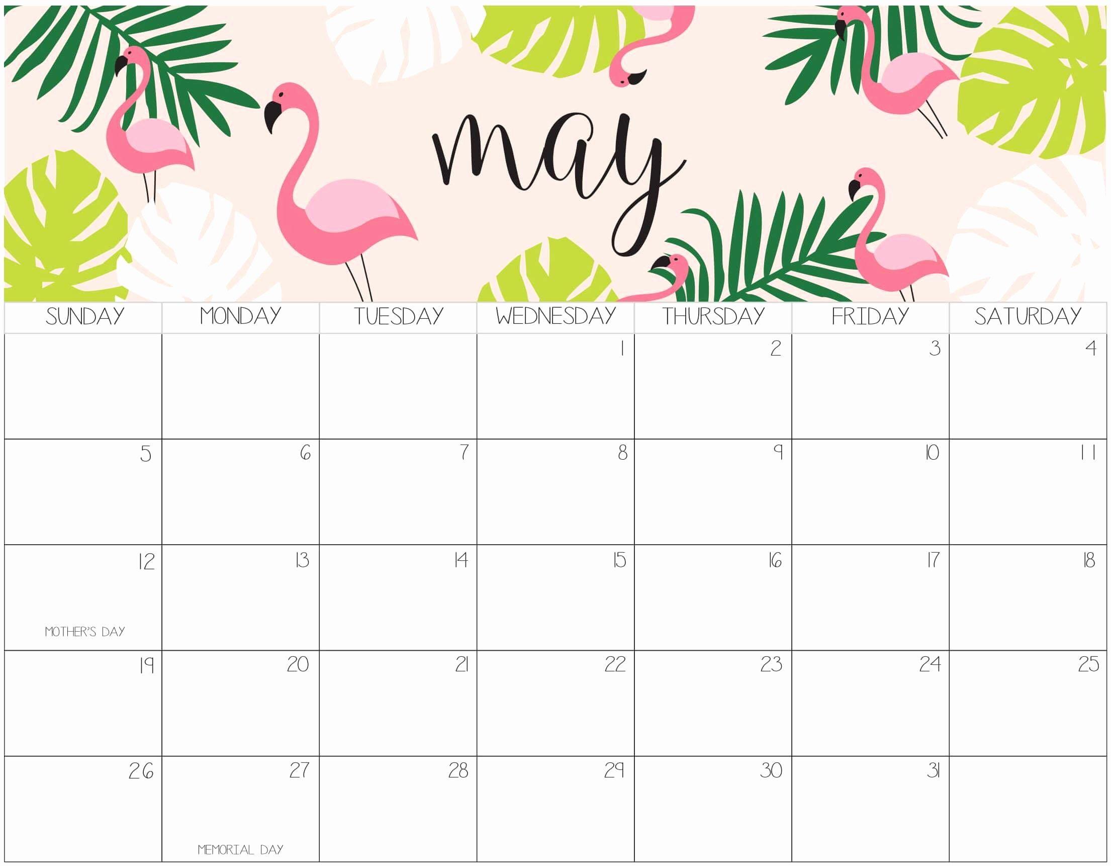 Cute Calendar Template 2019 Inspirational Cute May 2019 Calendar Printable for Kids