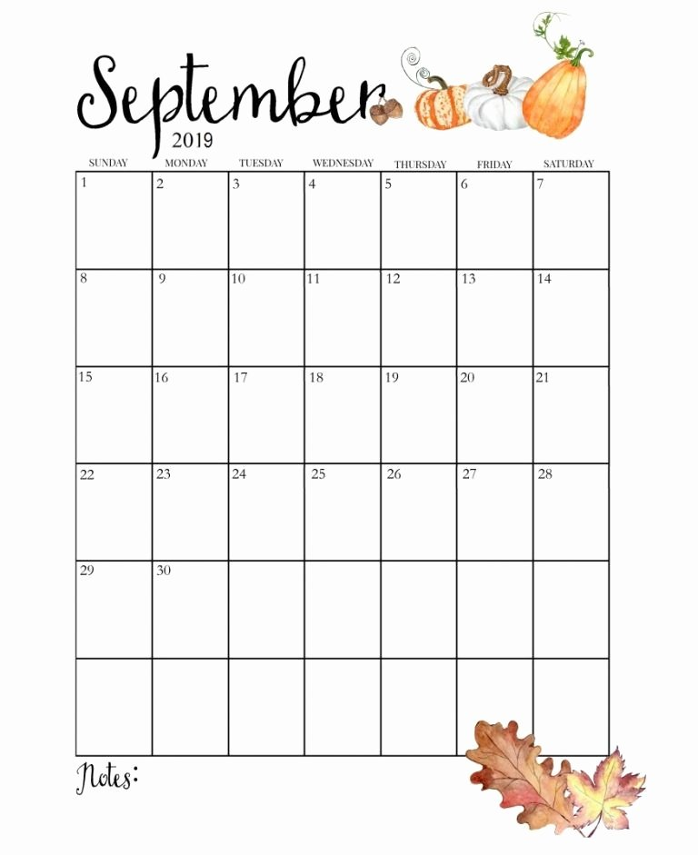 Cute Calendar Template 2019 New Cute September 2019 Calendar Bullet Journal