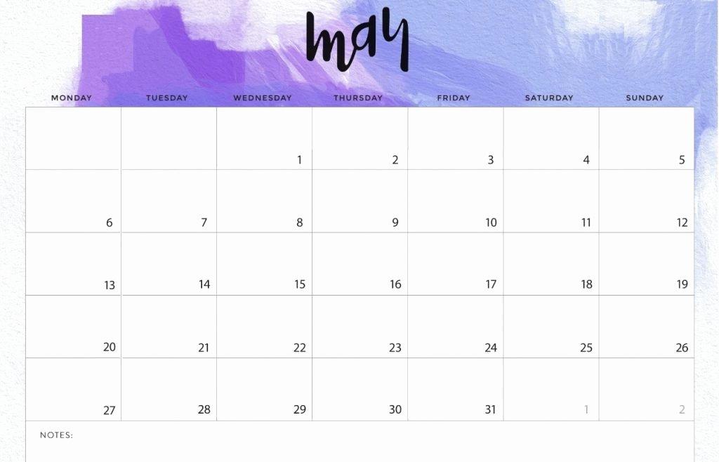 Cute Calendar Template 2019 New May 2019 Calendar Cute Printable Editable Template with