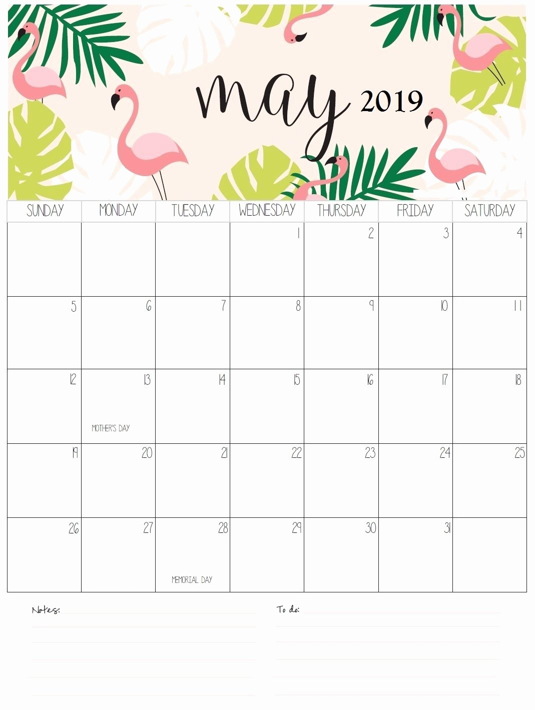 Cute Calendar Template 2019 New Personalized May Calendar 2019 May May2019