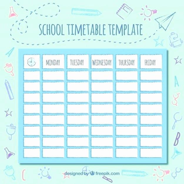 Cute Class Schedule Maker Beautiful Cute Class Schedule Template