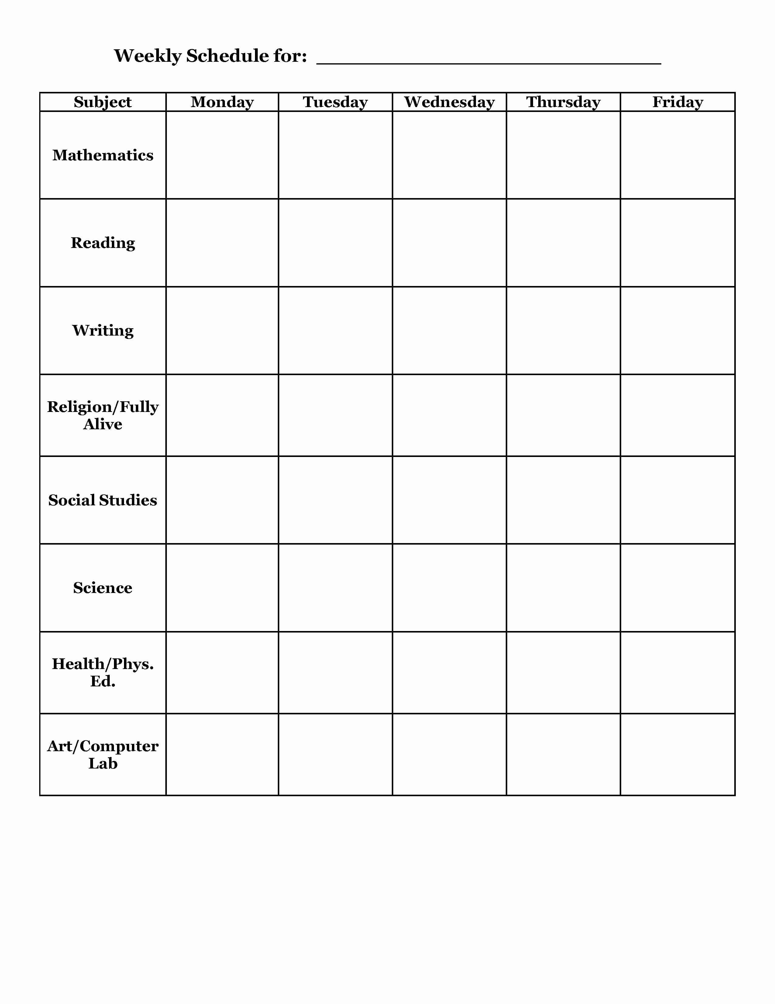 Cute Class Schedule Maker Beautiful Student Planner Templates