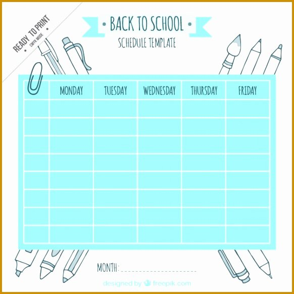 Cute Class Schedule Maker Best Of 10 Monthly Class Schedule Template