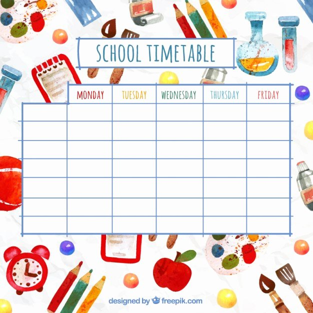 Cute Class Schedule Maker Best Of Timetable Vectors S and Psd Files