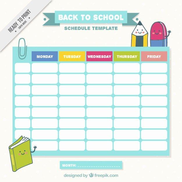 Cute Class Schedule Maker Luxury School Schedule with Nice Drawings Vector