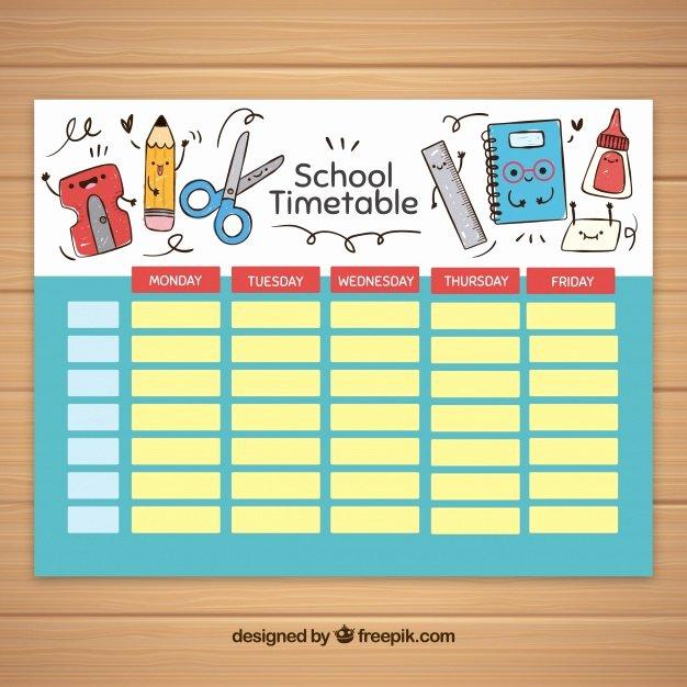 Cute Class Schedule Maker New Modelo De Horário Escolar Elementos Escolares