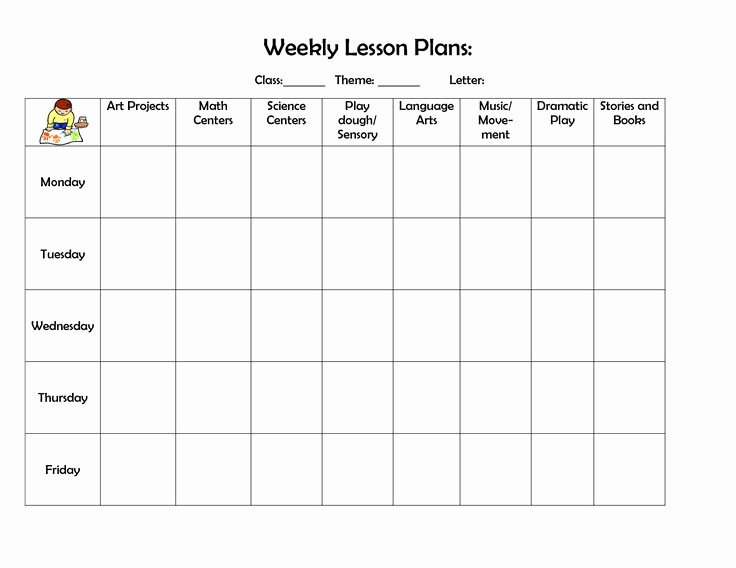Cute Lesson Plan Template Beautiful Infant Blank Lesson Plan Sheets