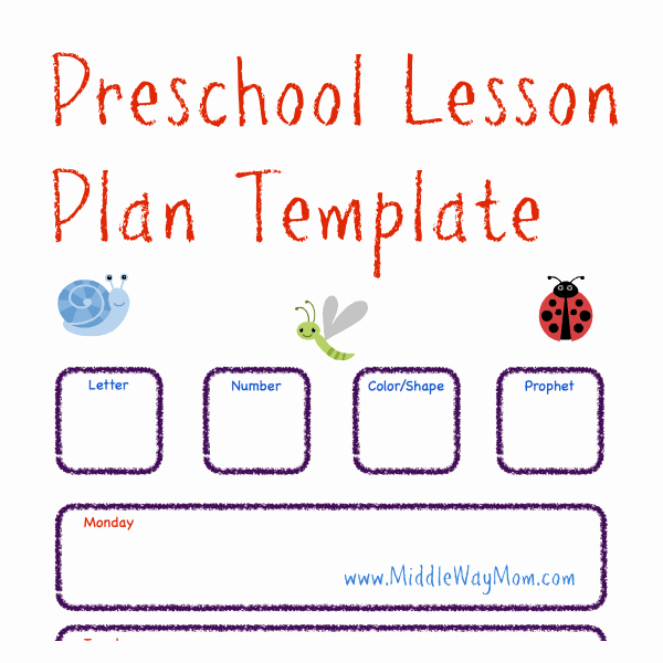 Cute Lesson Plan Template Luxury Make Preschool Lesson Plans to Keep Your Week Ready for