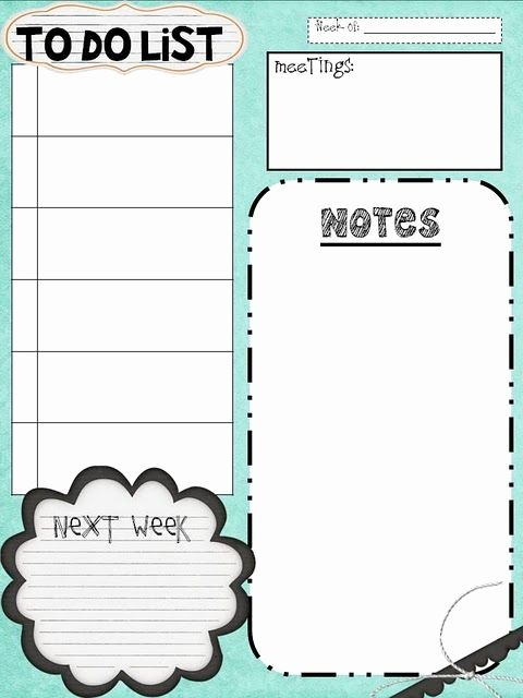 Cute Lesson Plan Template New Great Little to Do Lists and Other Printable Goo S