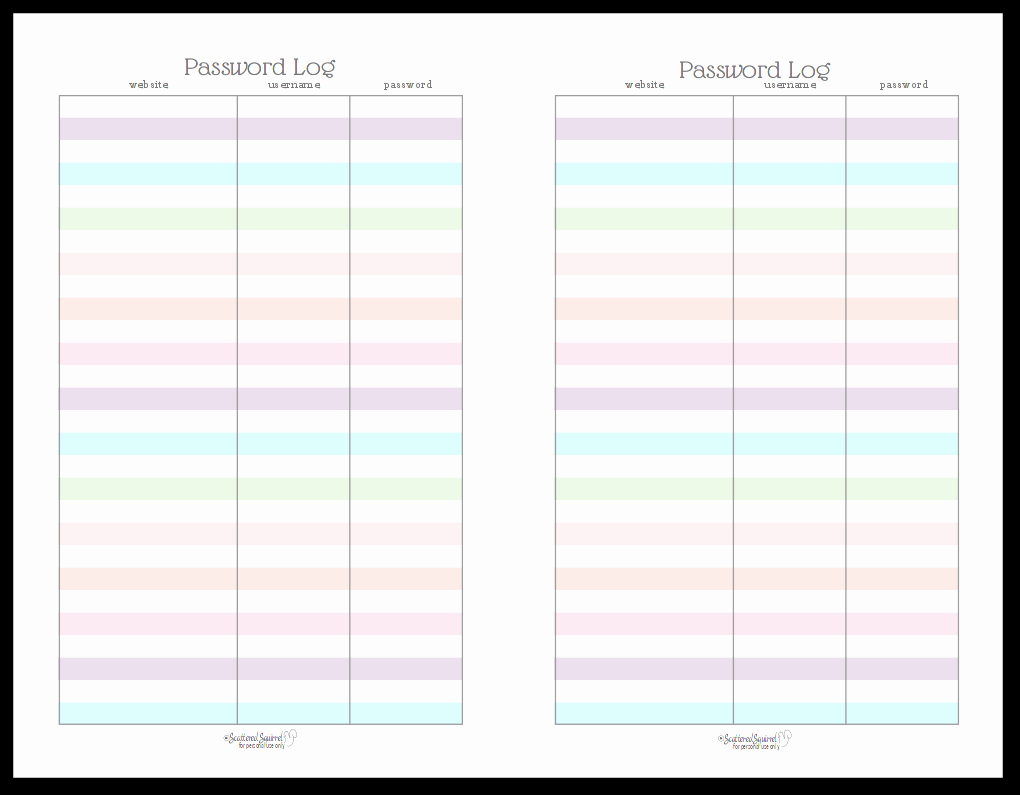 Cute Printable Address Book Awesome Colourful Address Book and Password Log Printables