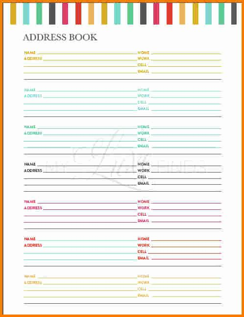 Cute Printable Address Book Awesome Printable Address Book