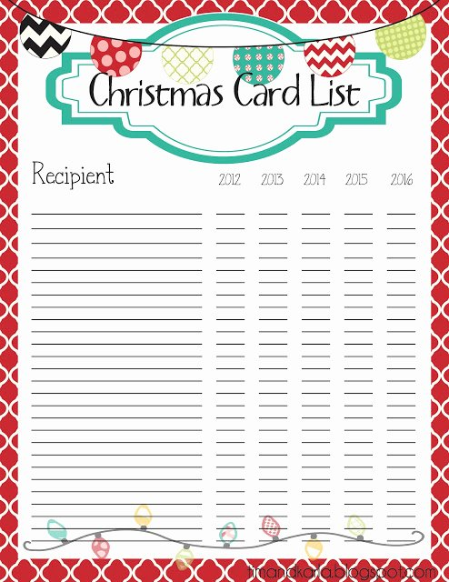 Cute Printable Address Book Best Of the Fast Lane ♥ Freebie Christmas Card List Printable