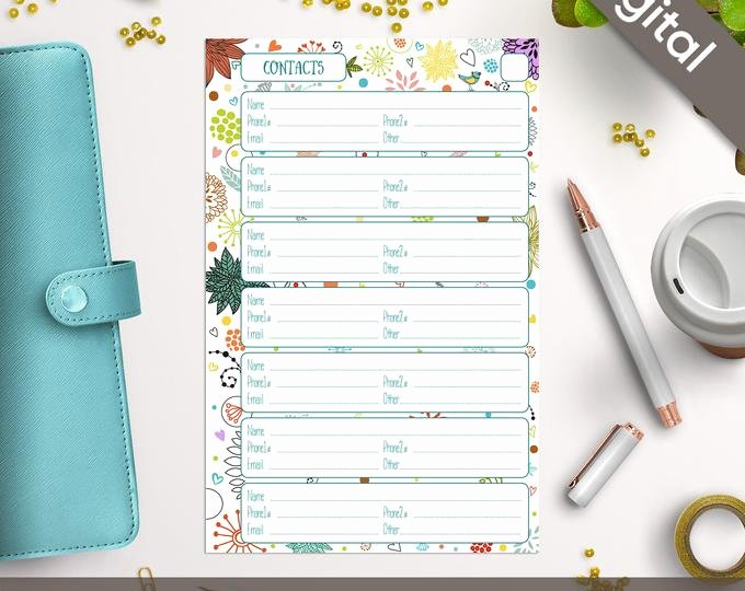 Cute Printable Address Book Lovely Off Coupon On 5 5x8 5 Address Book Pages Printable