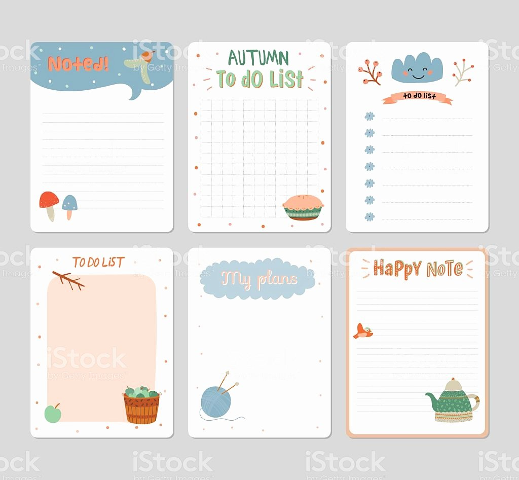 Cute to Do List Template Awesome Cute Daily Calendar and to Do List Template Stock Vector