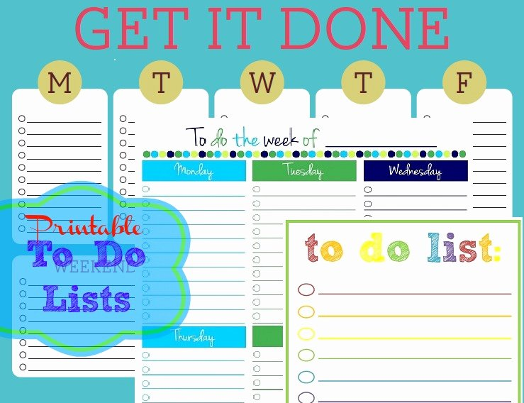 Cute to Do List Template Awesome Free Printable to Do Lists – Cute & Colorful Templates