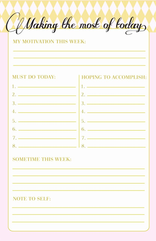 Cute to Do List Template Fresh 10 to Do Lists as Pretty as they are Useful