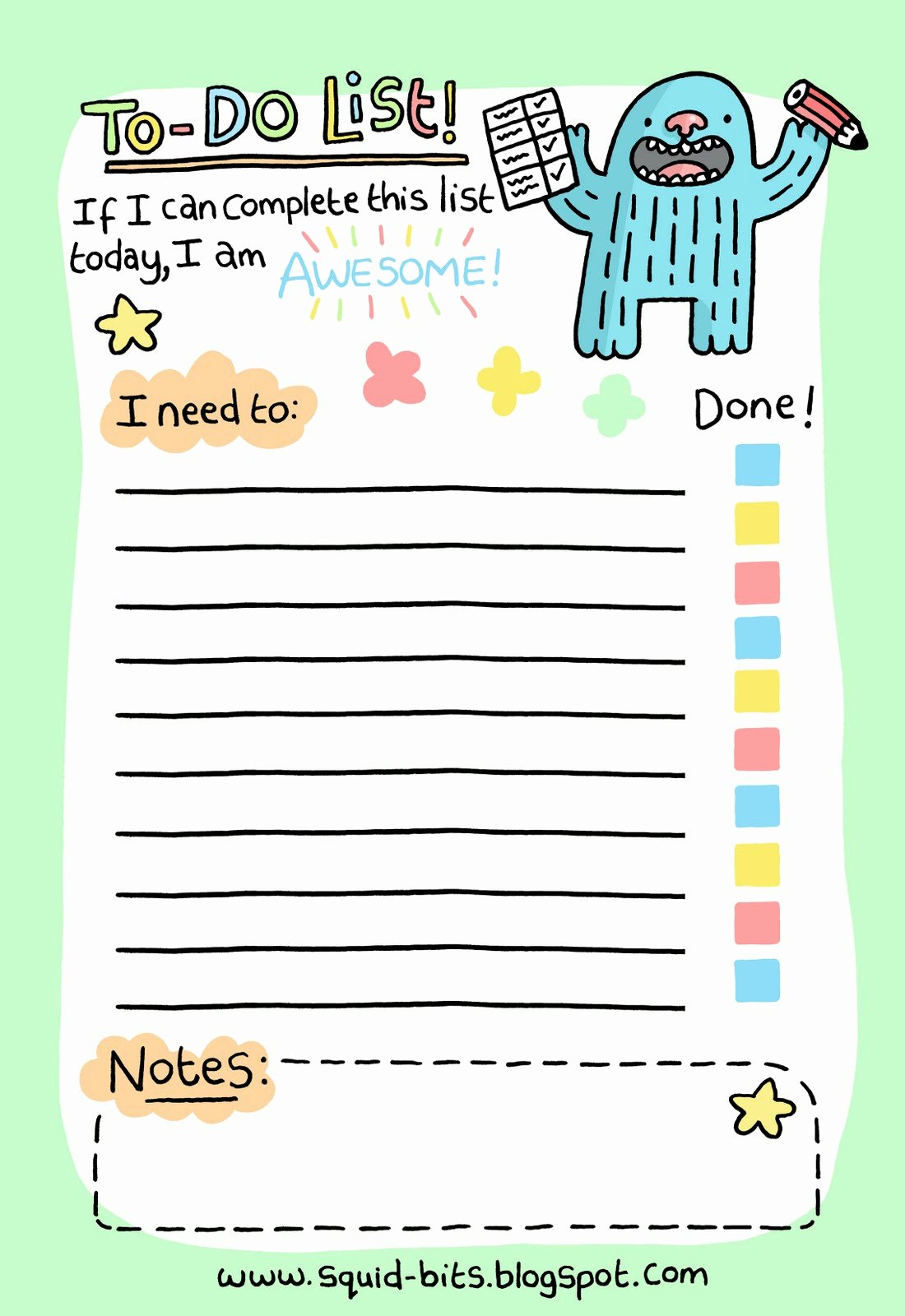 Cute to Do List Template Fresh Day 6 at Nanowrimo – Making A to Do List