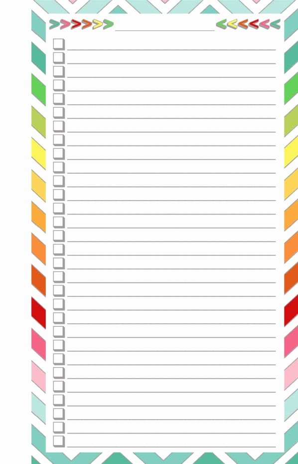 Cute to Do List Template Inspirational Blank List Half Page